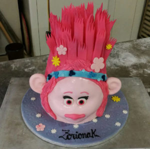 Tarta infantil princesa Poppy Bizkarra