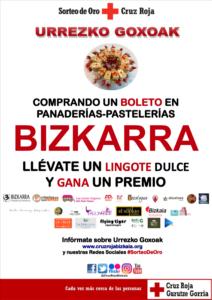 Sorteo de Oro Cruz Roja con Bizkarra