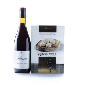 Maridaje de vino Kauten y trufas de queso - Bizkarra