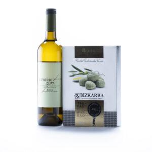 maridaje de trufas de aceite y vino Luberri Zuri