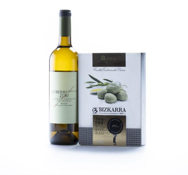 maridaje de vino luberri zuri y trufas de aceite