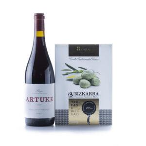 maridaje de vino artuke y trufas aceite